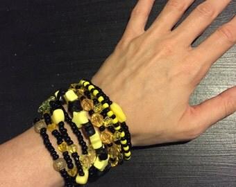 9 Bracelet YELLOW AND BLACK Color Bundle