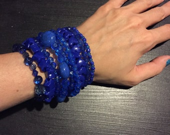 9 Bracelet BLUE Color Bundle