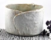 Ceramic Vessel Oval Cream Speckled Handmade Pottery Vessel Home Decor