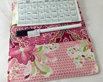 Duplicate Checkbook Cover Register Check Book Cover - Art Gallery Lilly Belle Flowerpop Zesty  Sweet - Ready To Ship