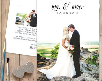 Photo Wedding Thank You Card - Thank Yous, Bouquet
