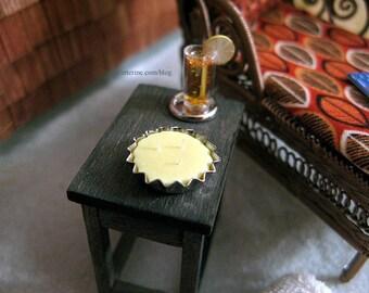 Citronella 3-wick candle tin - dollhouse miniature
