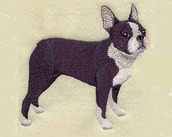 Boston Terrier Tea Towel | Embroidered Tea Towel | Embroidered Kitchen Towel | Embroidered Hand Towel | Kitchen Towel | Dog Lover Gift