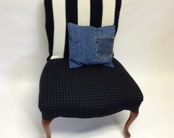 Stripey Chair Back Cover Sleeve YOUR CHAIR SIZE