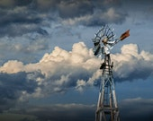 Windmill Energy at 1880 Town Frontier Museum Prairie Farm in South Dakota No.4913 Color Wall Decor Fine Art Landscape Photography