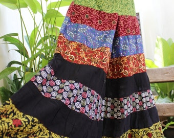 PATCHWORK Boho Gypsy Tiered Wide Leg Pants - PWF1504-04