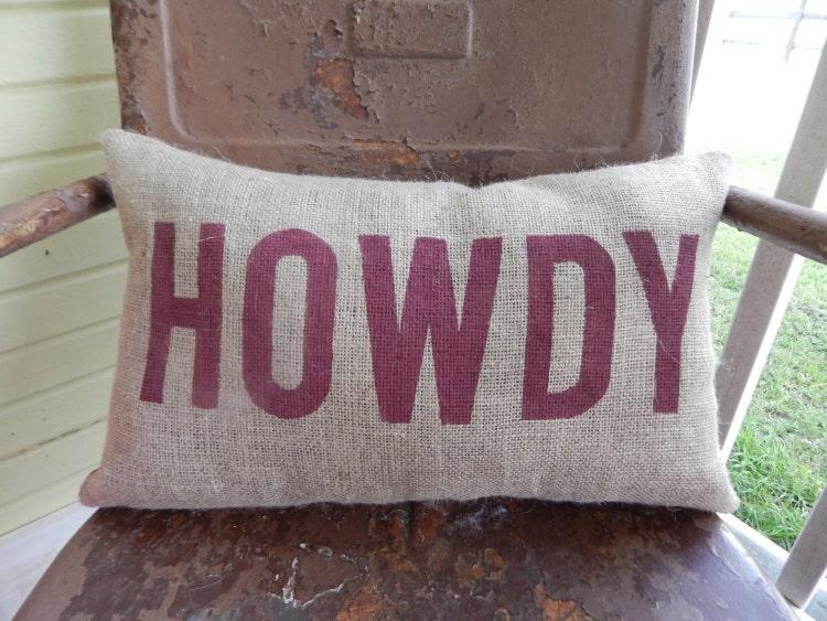Texas A Amp M Aggies Howdy Aggie Pillow Collegiate By