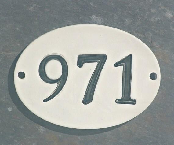ceramic address sign house numbers new home address home. Black Bedroom Furniture Sets. Home Design Ideas