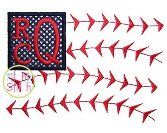 "Baseball Flag Monogram Applique, Shown with our ""Stacked Serif"" Font NOT Included, INSTANT DOWNLOAD now available"