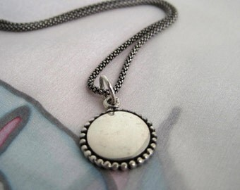 Sterling Silver Medallion Necklace
