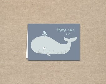 DIY / Little Whale Thank You Cards / printable