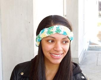 Black Friday, Cyber Monday, Small Business Day, Crochet Cotton Headband, Women, Teen, Multicolor, Tam, Spring Headband, Summer,