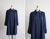ON SALE 1940s vintage navy blue wool swing coat