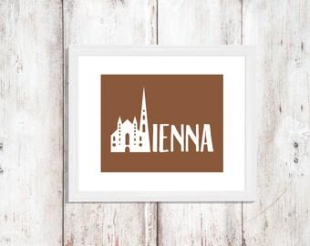 Custom Colors | Vienna | Austria | Europe | Nursery Art | Wall Art | Subway Art | Home Decor | 5x7 | 8x10 | 11x14 | 16x20