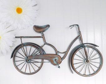 Metal Bicycle Wall Decor bicycle wall decor | etsy