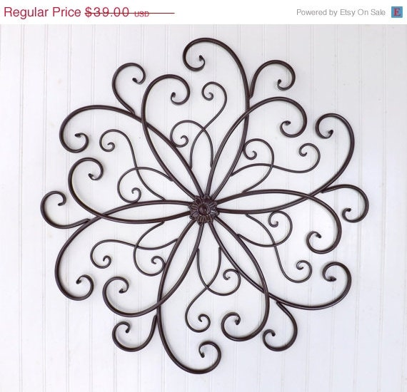 Wrought Iron Wall Decor Flowers : Spring sale large wrought iron wall decor by theshabbyshak