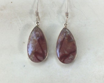 Red Jasper and Sterling Silver Drop Earrings