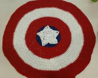 Captain America shield blanket