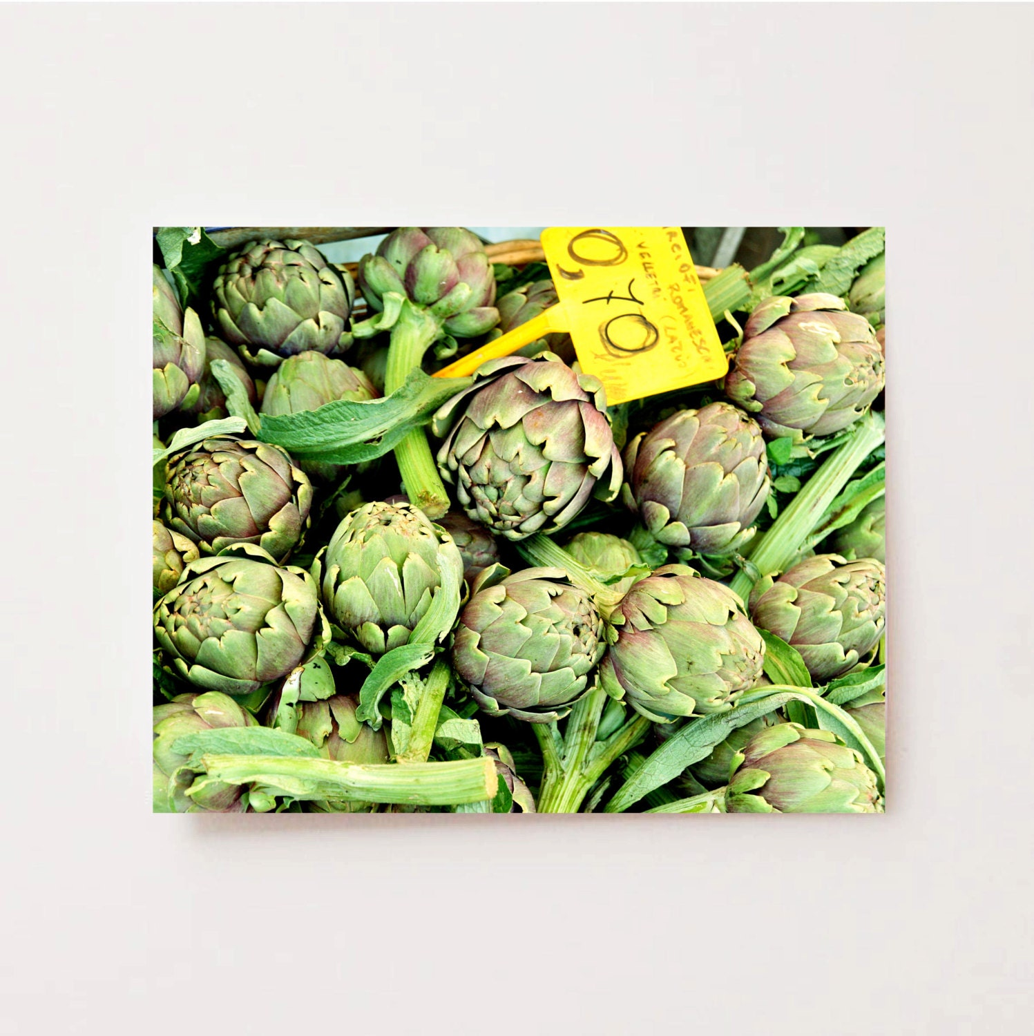 Artichoke print food photography roman market for Artichoke decoration