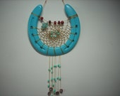Horse shoe Dream catcher turquoise stone Turtle