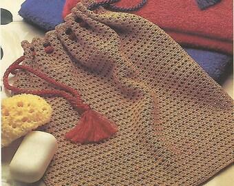 Handy Drawstring Bag Crochet Pattern No 69 Instant Download