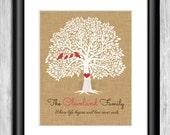 Family Tree Print - Family Tree Wall Art - Family Tree Wall Decor - Digital Family Tree - Custom Family Tree Printable - Custom Tree Print