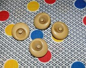 Set of 5 Wonderful Vintage Cream Celluloid Plastic Buttons , 7/8 Inch Length