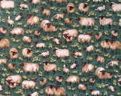 Sheep from Makower UK cotton fabric quilting kids dresses shirts shorts pants