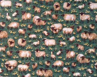 Sheep from Makower UK cotton fabric quilting kids dresses shirts shorts pants