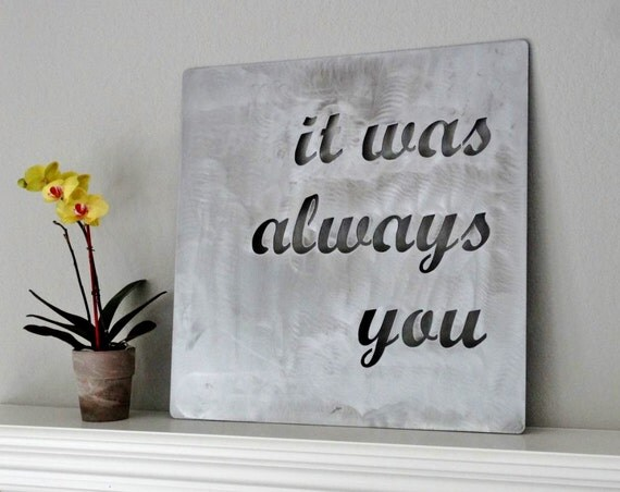 custom metal quote sign and sayings by langleymetalworks