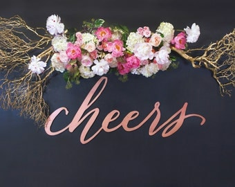 Laser Cut Cheers Sign