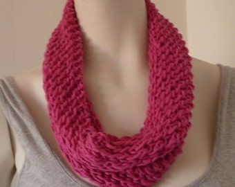 Cotton Scarf, Womens Lacy Cowl, Hand Knit Cowl, Loop Scarf - MADE TO ORDER