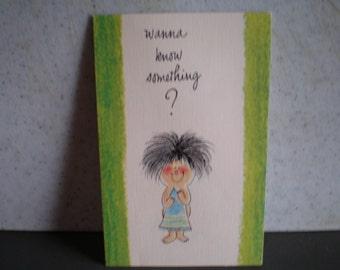 Vintage 1970's Unused Greeting Card - Happy Birthday