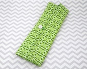 Knitting Needle Case or Paintbrush Roll - Green