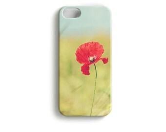 """phone Case """"Summer Poppy"""" Flower"""