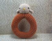Bird Amigurumi Crochet Rattle for Baby