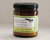Lemon Ginger Hand Candy Sugar Scrub - Vegan - 8oz - Lemon Scrub