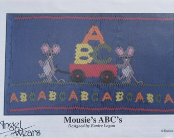 Smocking Plate - Mousie's ABC's by Eunice Logan Angel Wears (book 5)