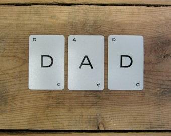 Vintage DAD Small Alphabet Letter Game Cards