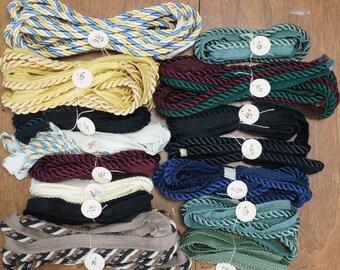 Upholstery Rope Trim Big Mixed Destash Lot 30+ Yards