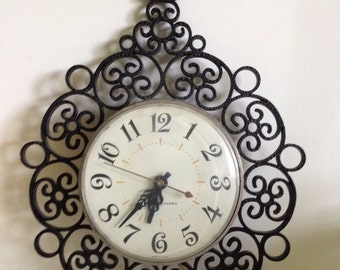 GE Retro Black Stroll Wall Clock