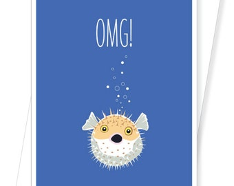 Blowfish - Funny Birthday Cards - D216