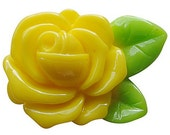 Yellow Rose Cabochons