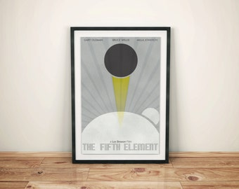 Null Planet // The Fifth Element Alternate Movie Poster // Null Planet, Earth, and Light of the Supreme Being Illustration