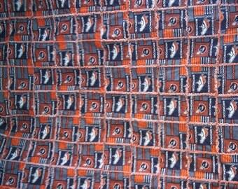 Denver Broncos Twin Bed Rag Quilt