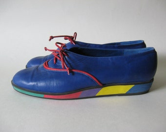 Stylin' 80s Euro vintage soft leather oxford shoes women's 6 Spain