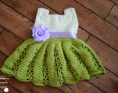 Crochet Pattern: Ribbon & Lace Toddler Dress