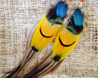 Tribal Feather Earrings ~ Large Pair ~