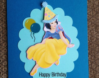"Snow White ""Happy Birthday"" Card"