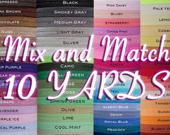 10 YD FOE MultiPack - 5/8 Fold Over Elastic, 10 Yard Multi Pack, You Choose Colors